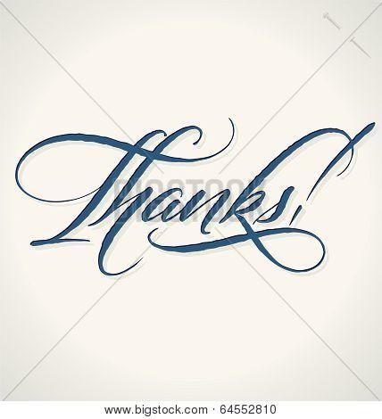 THANKS hand lettering (vector)
