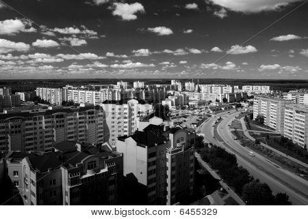 black&white town