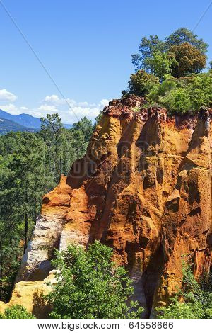 Red Cliffs In Roussillon