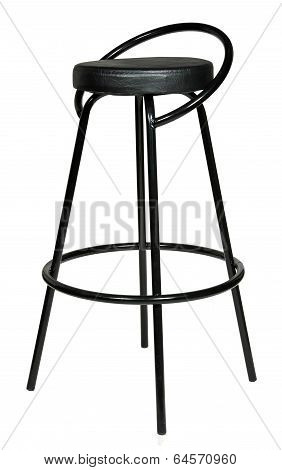 high black bar stool isolated on white background.