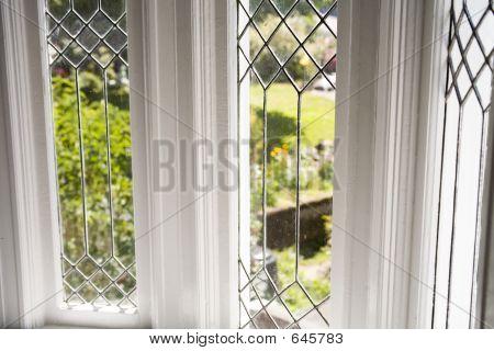 Stock Photo Of A Beautiful Lead Glass Window