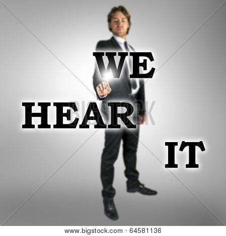 Words - We Hear It - On A Virtual Screen