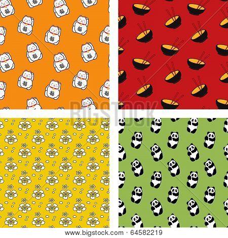 Seamless Japanese patterns