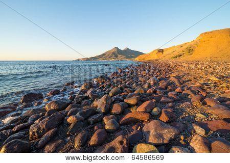 Cabo De Gata Coast At Sunrise