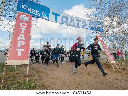 Start run point