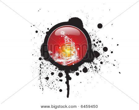 christmas grunge icon background