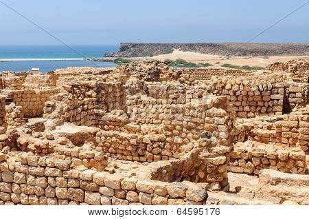 Archaeological Site Of Sumhuram, Near Salalah, Dhofar Region (oman)