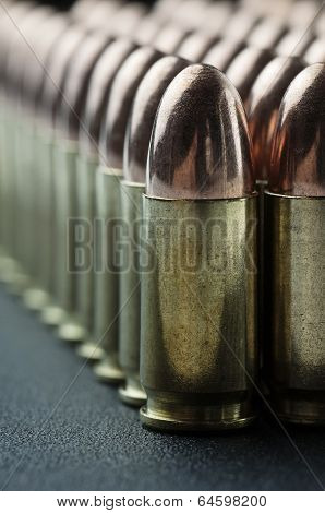 Bullet cartridge close up