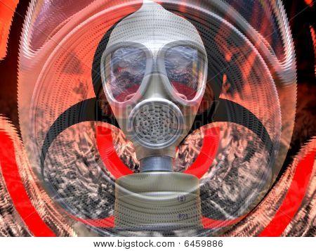 Biohazard attack background