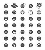 vector emotion face icons sighs isolated on white poster