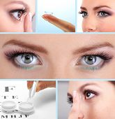 Contact lens collage poster