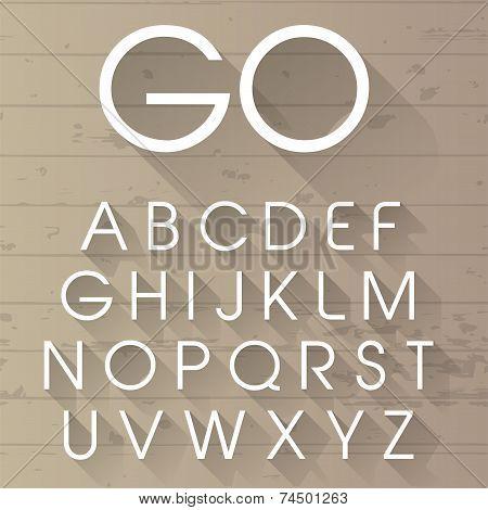 Vector Long Shadow Alphabet