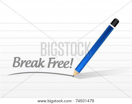 Break Free Message Illustration Design
