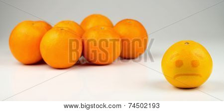 Sad Segregated Yellowish Orange