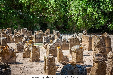 Tunisia. Ancient Carthage. The Tophet - Open-air Area With Stelae