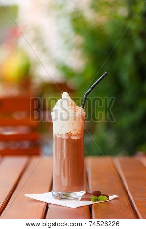 Hot Chocolate Drink With Whipped Cream