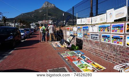 African Traditional Market With Handmade Souvenirs In South Africa