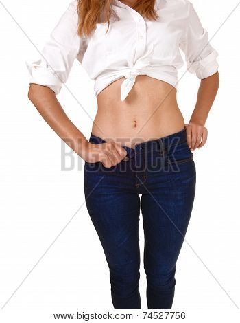 Stomach Of Young Woman.
