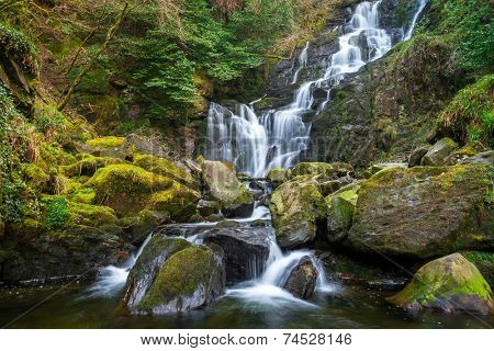 Torc waterfall in Killarney National Park, Ireland