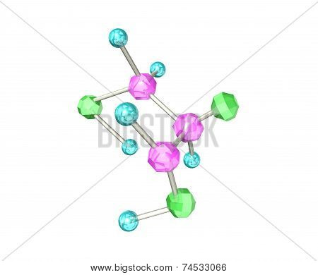 The molecular formula of beautiful crys
