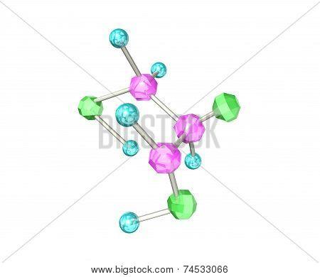 The molecular formula of beautiful crys