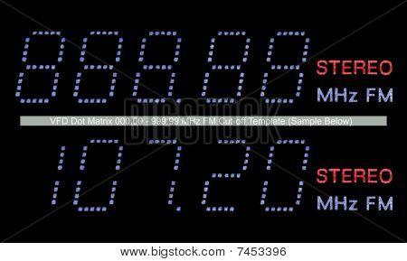 Vfd Dot Matrix Fm Radio Display Macro In Blue