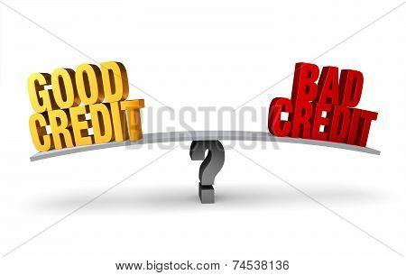 Good Credit Versus Bad Credit