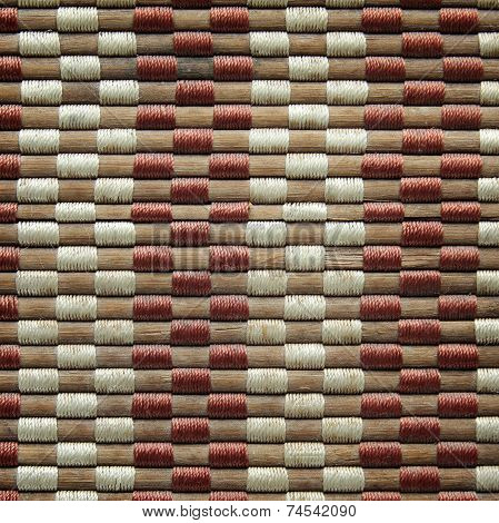 bamboo woven mat texture or seamless background poster