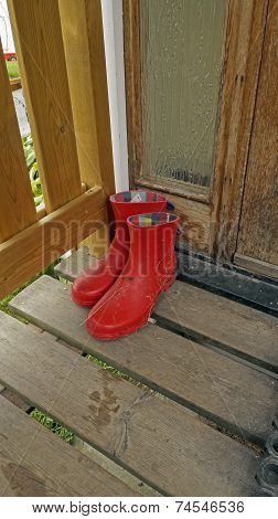 Galoshes On The Porch