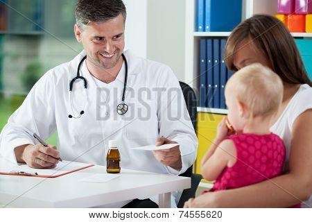 Pediatrist Prescribe Medicine