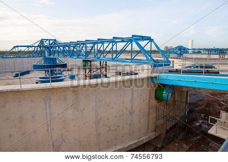 Waterworks Production Tank In Construction At Water Suppies Industry Estate Site