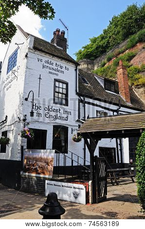 Ye Old Trip to Jerusalem Pub, Nottingham.