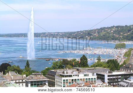 Geneva and the Leman Lake