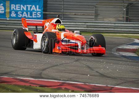 ASSEN, NETHERLANDS - OCTOBER 19, 2014: Nigel Melker (Team Netherlands) wins the Acceleration Grand Prix Formula A1 championships