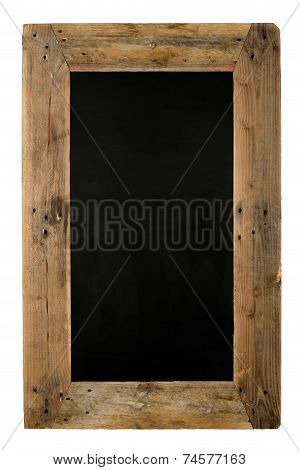Chalkboard Restaurant Menu Board Reclaimed Wood On White