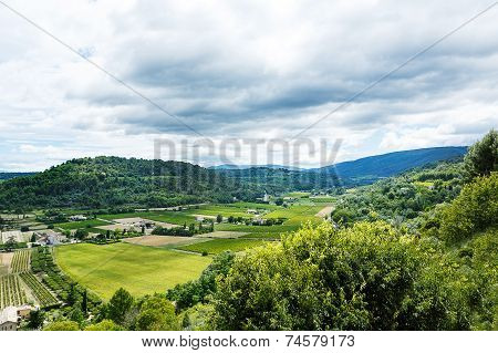 View On Provence Village Roof And Landscape.