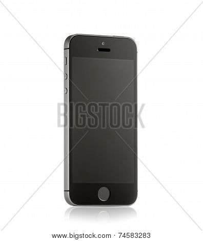 MOSCOW, RUSSIA - APRIL 12 , 2014: Photo of a brand iPhone 5S. iPhone 5S is a smartphone developed by