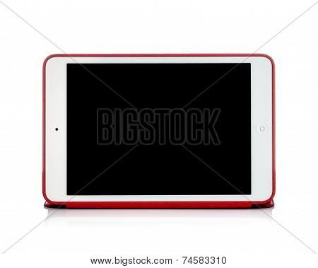 MOSCOW, RUSSIA - APRIL 12 , 2014: Photo of a brand iPad mini. iPad mini. is a tablet developed by Ap