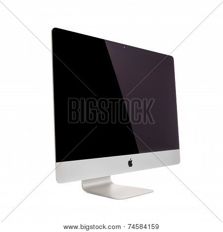 MOSCOW, RUSSIA - MAY 10 , 2014: Photo of new iMac 27 With OS X Mavericks. iMac - monoblock series of