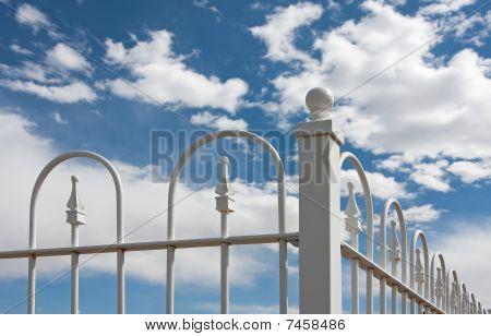 White Wrought Iron Fence