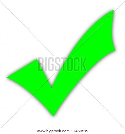 Green Tick Or Check Mark