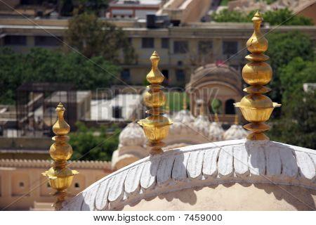 Decoration Of Hawa Mahal Palace, Jaipur, India