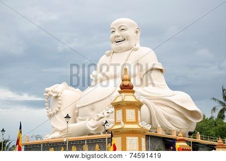 Big Buddha statue in a Buddhist Temple