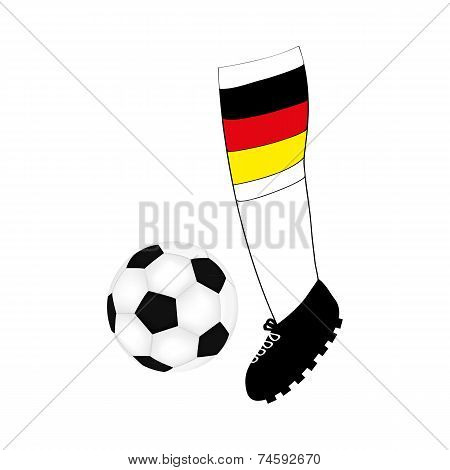 foot football player with the flag of Germany