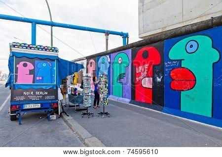 East Side Gallery In Berlin, Germany