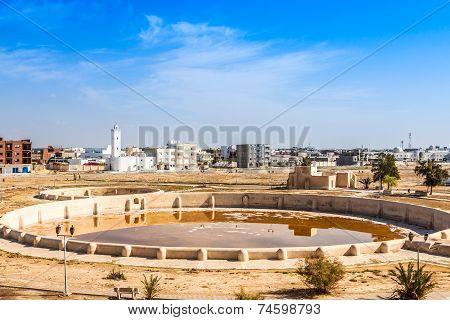 Ancient Aghlabid Basins in Kairouan Tunis Africa poster