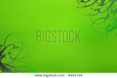 green swirls abstract background