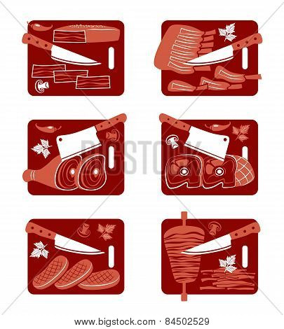 Meat Icon Set