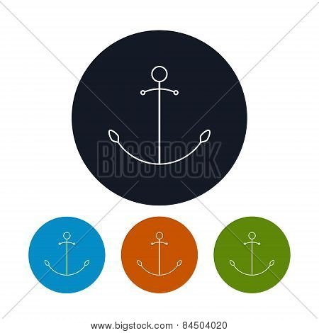Icon  anchor, vector illustration
