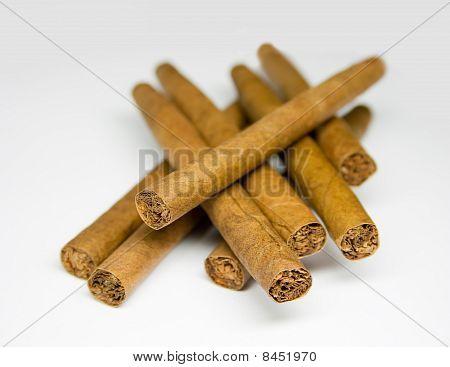Closeup cigars background